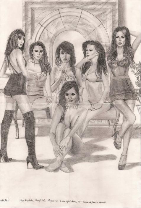 Krystal Forscutt, Kate Beckinsale, Inna, Megan Fox, Cheryl Cole, Olga Kurylenko por Dan720